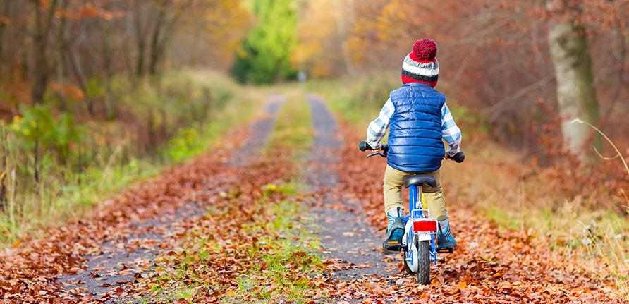 Att cykla på egen hand med en barncykel